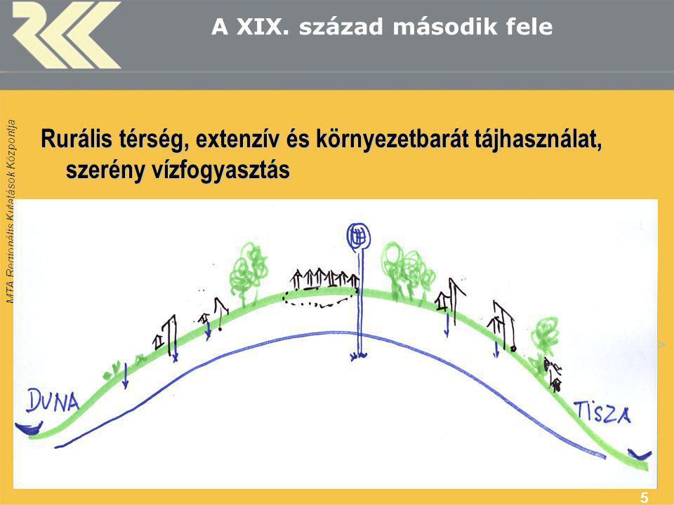 MTA Regionális Kutatások Központja 5 A XIX.