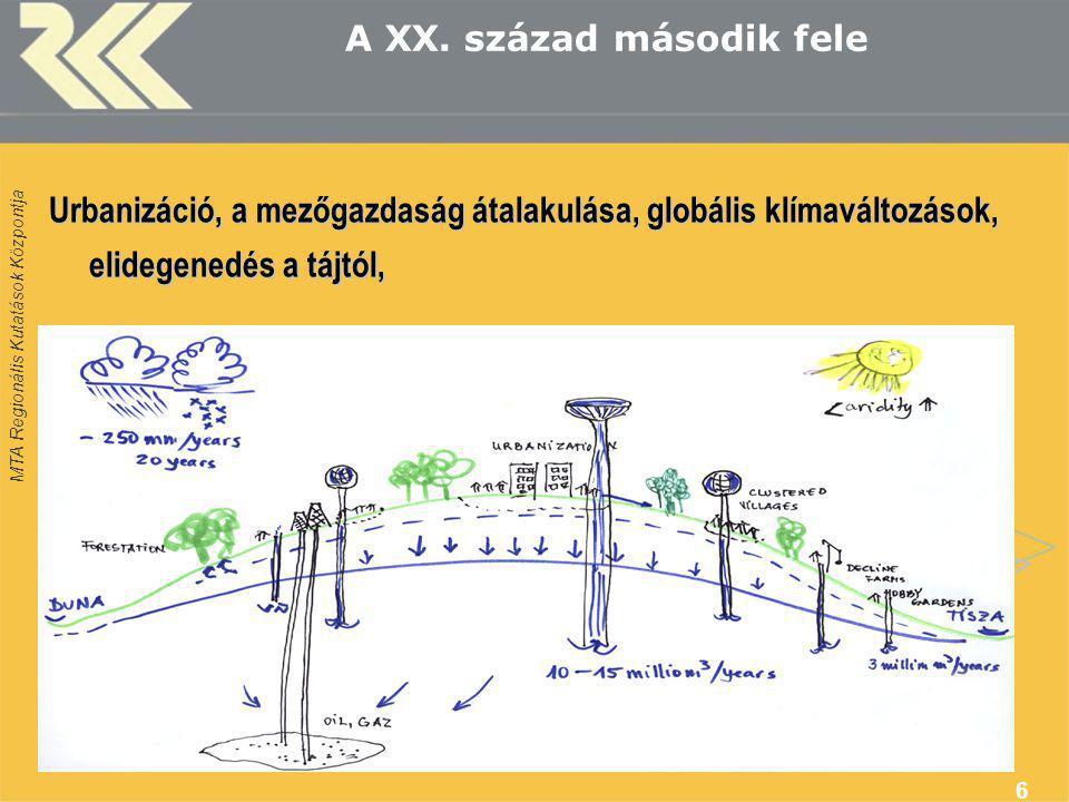 MTA Regionális Kutatások Központja 6 A XX.