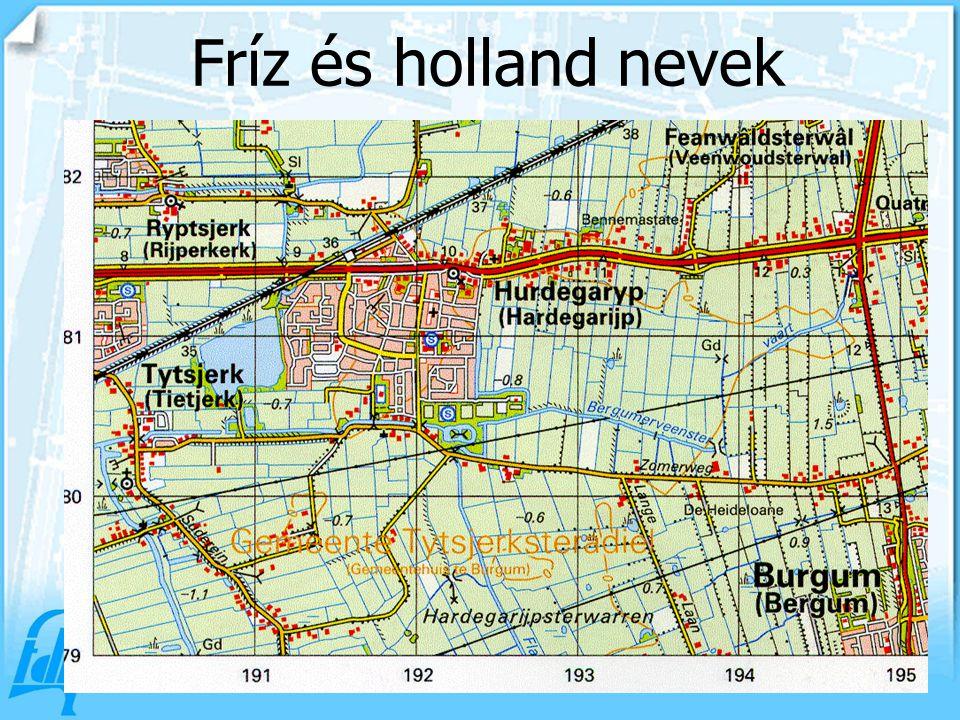 Fríz és holland nevek