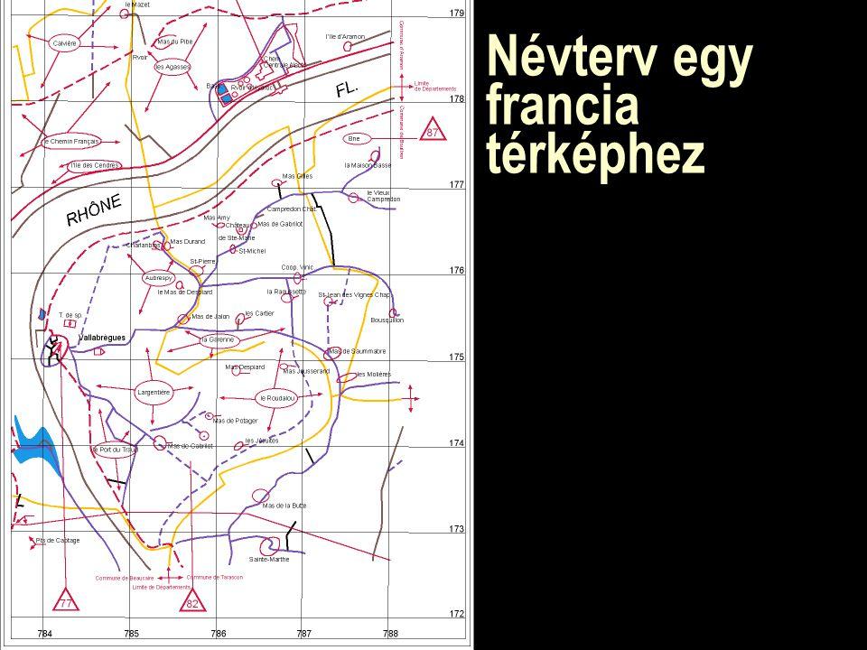 Névterv egy francia térképhez