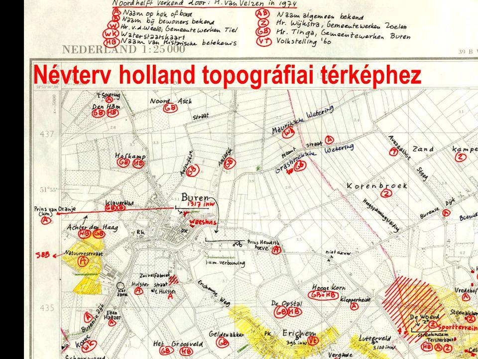 Névterv holland topográfiai térképhez