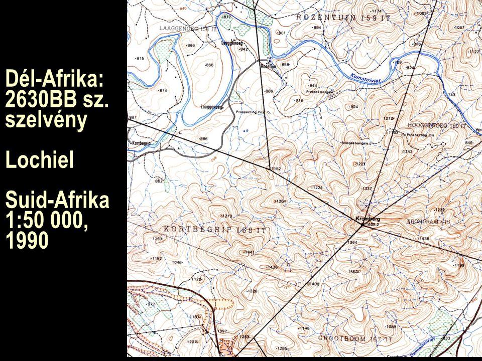 Dél-Afrika: 2630BB sz. szelvény Lochiel Suid-Afrika 1:50 000, 1990