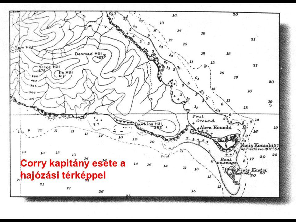 Corry hajózási térképe Corry kapitány esete a hajózási térképpel