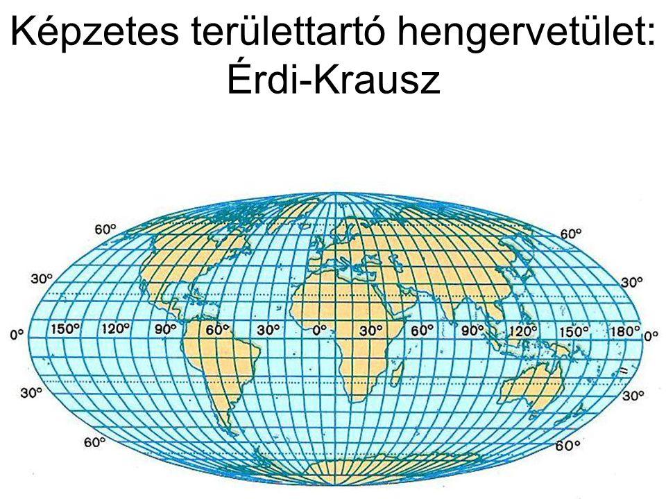 Képzetes területtartó hengervetület: Érdi-Krausz