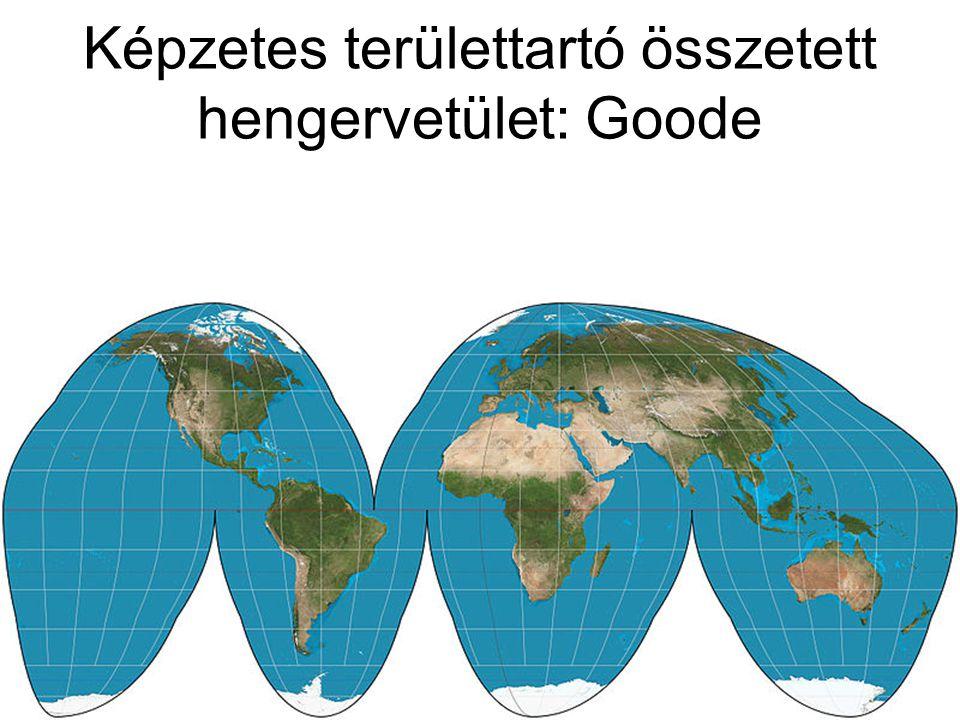 Képzetes területtartó összetett hengervetület: Goode