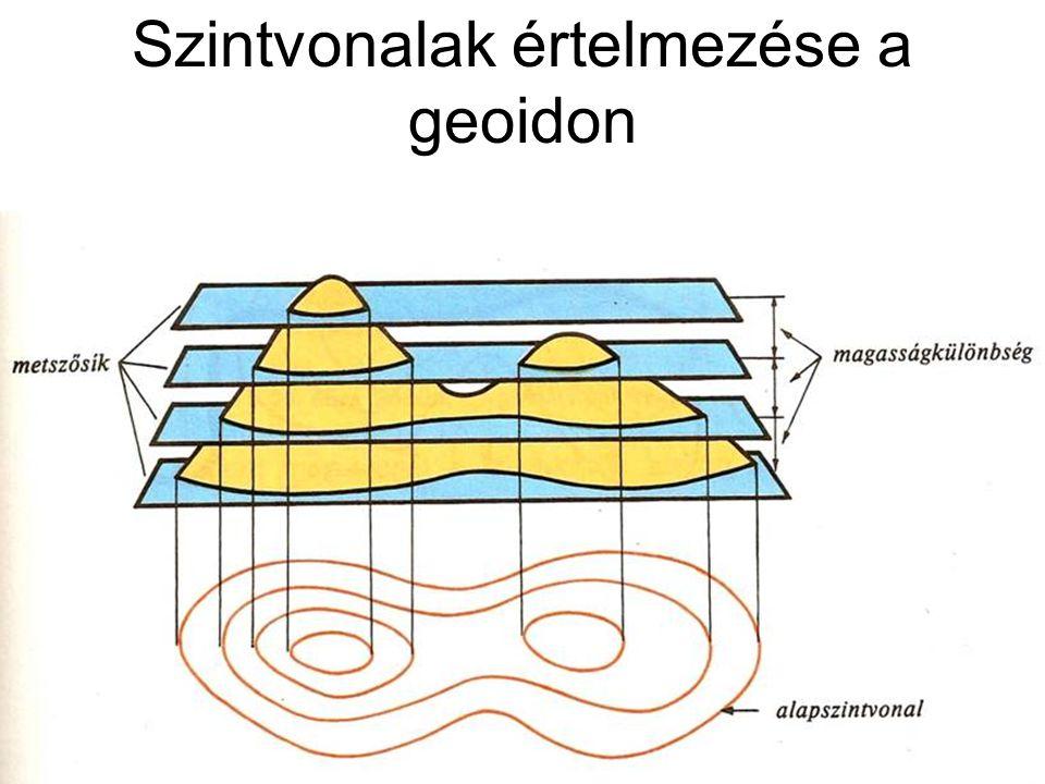 Szintvonalak értelmezése a geoidon
