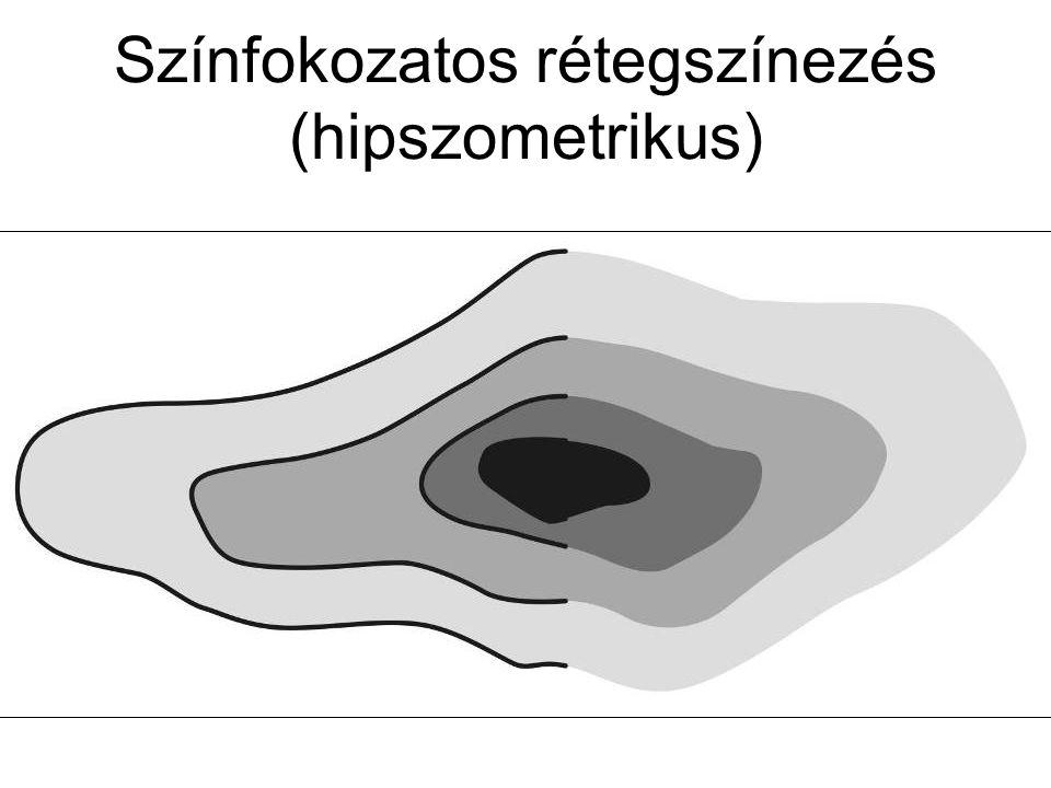 Színfokozatos rétegszínezés (hipszometrikus)