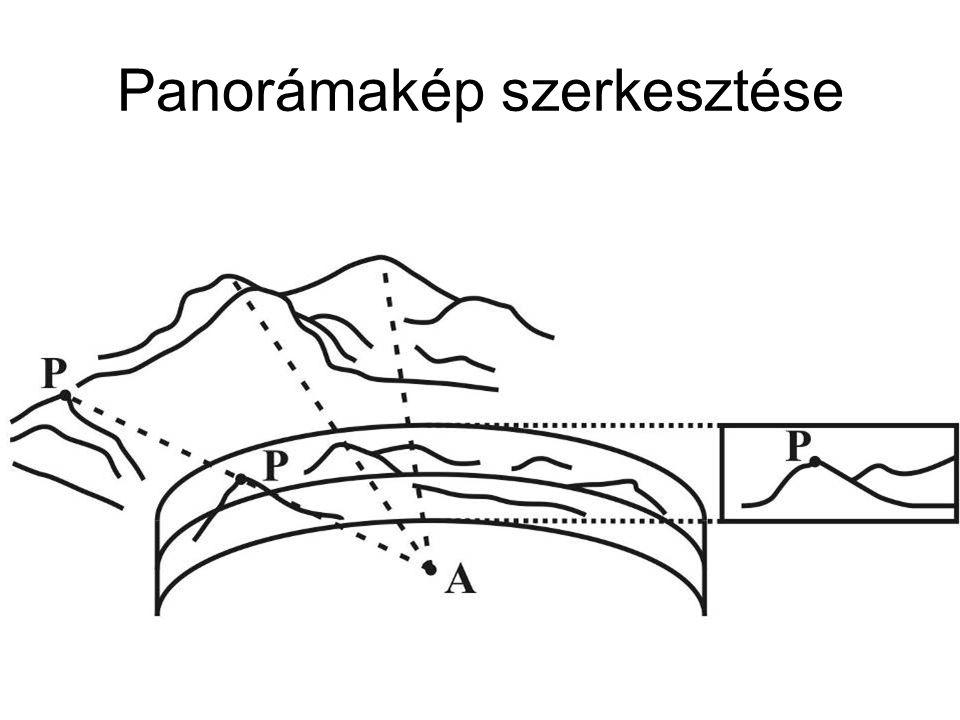 Panorámakép szerkesztése