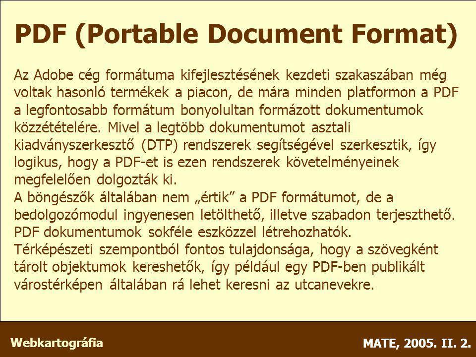 Webkartográfia MATE, 2005. II. 2.
