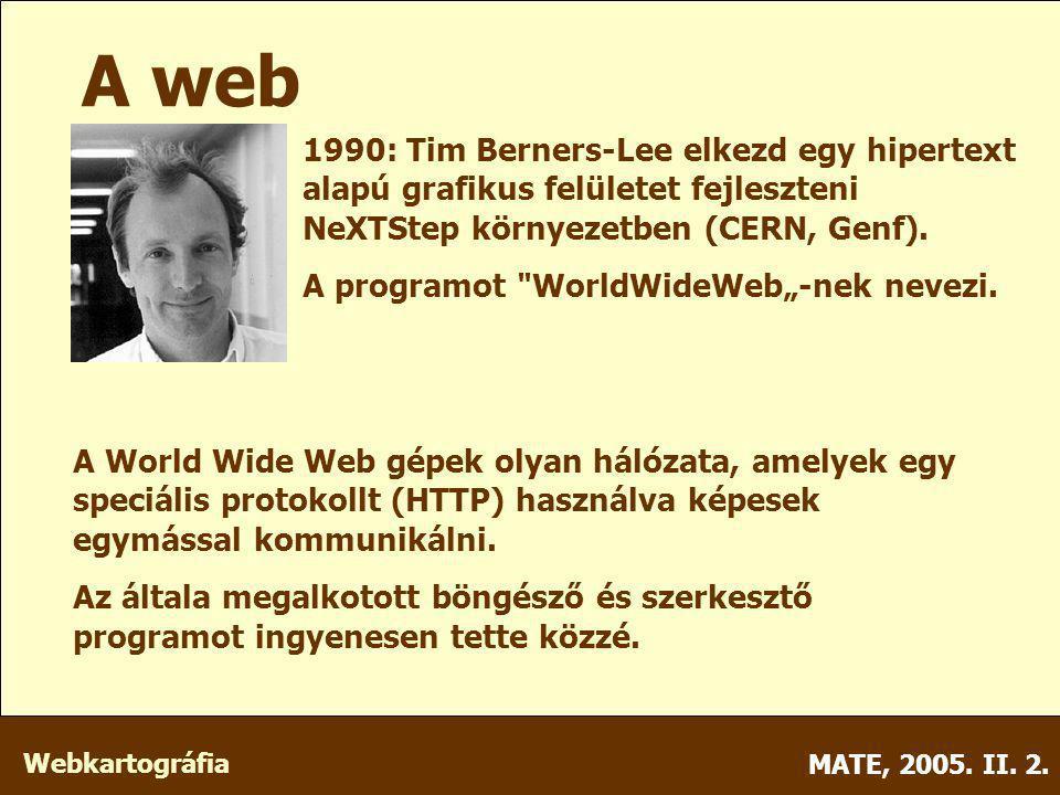 Webkartográfia MATE, 2005.II. 2. Wavelet Előnyök: Még a JPG-nél is jóval kisebb méret.