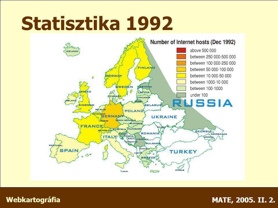 Webkartográfia MATE, 2005. II. 2. Statisztika 1992