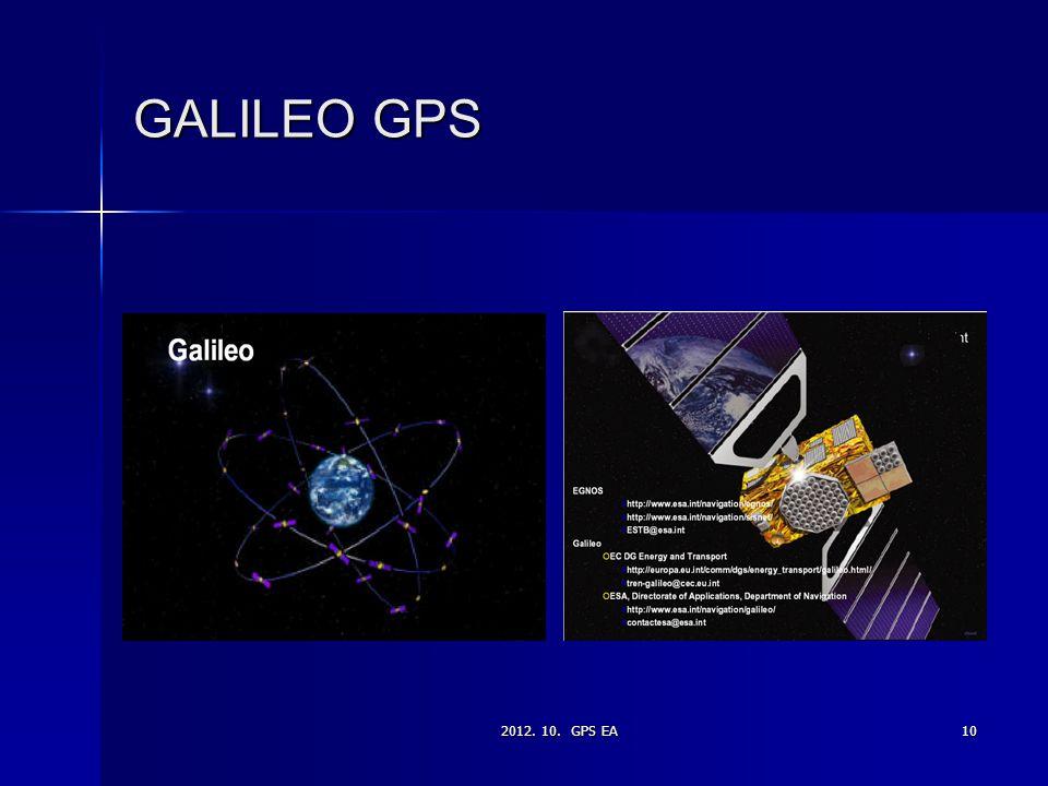 2012. 10. GPS EA10 GALILEO GPS