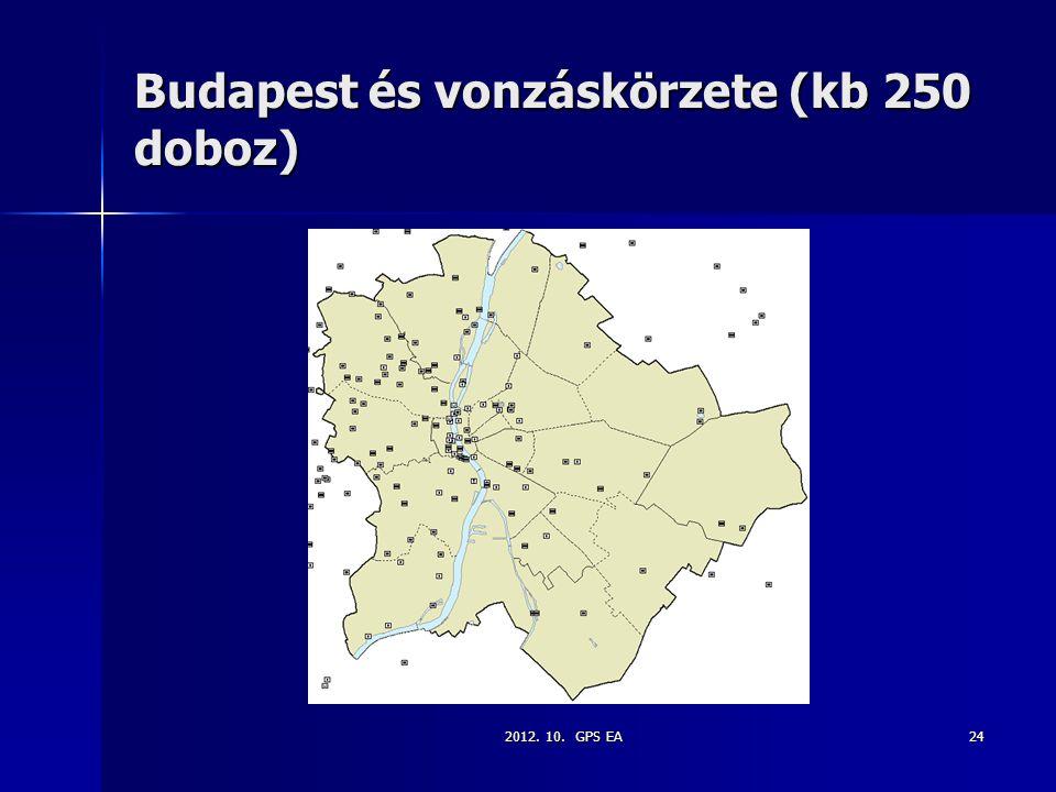 2012. 10. GPS EA24 Budapest és vonzáskörzete (kb 250 doboz)
