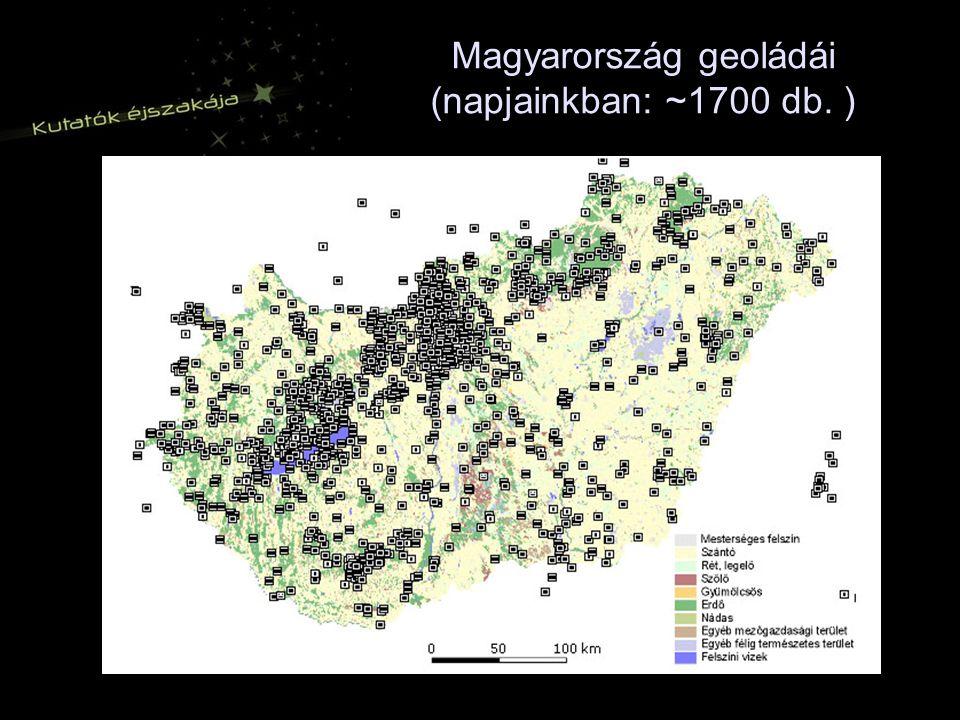 Magyarország geoládái (napjainkban: ~1700 db. )