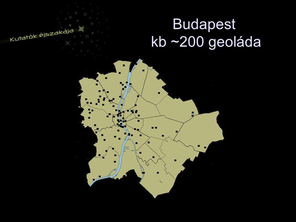 Budapest kb ~200 geoláda