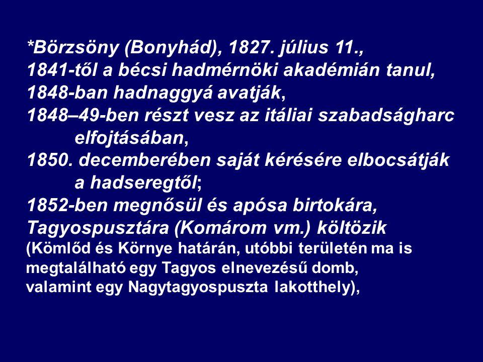 *Börzsöny (Bonyhád), 1827.