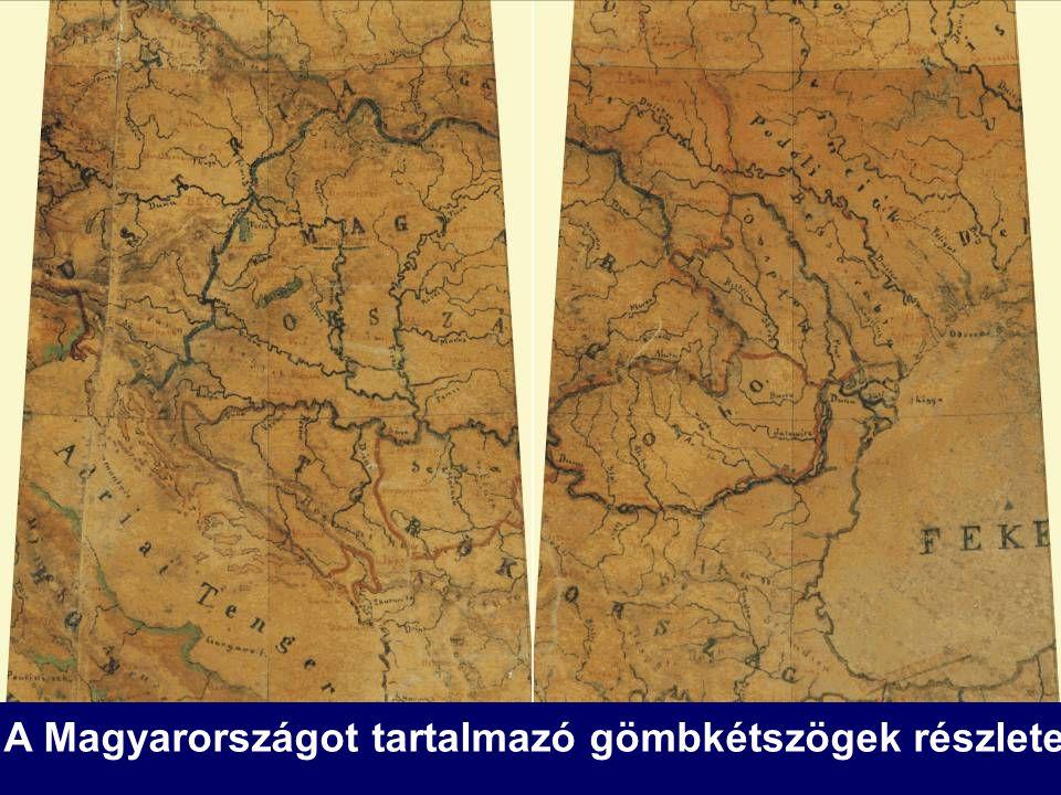 A Magyarországot tartalmazó gömbkétszögek részlete