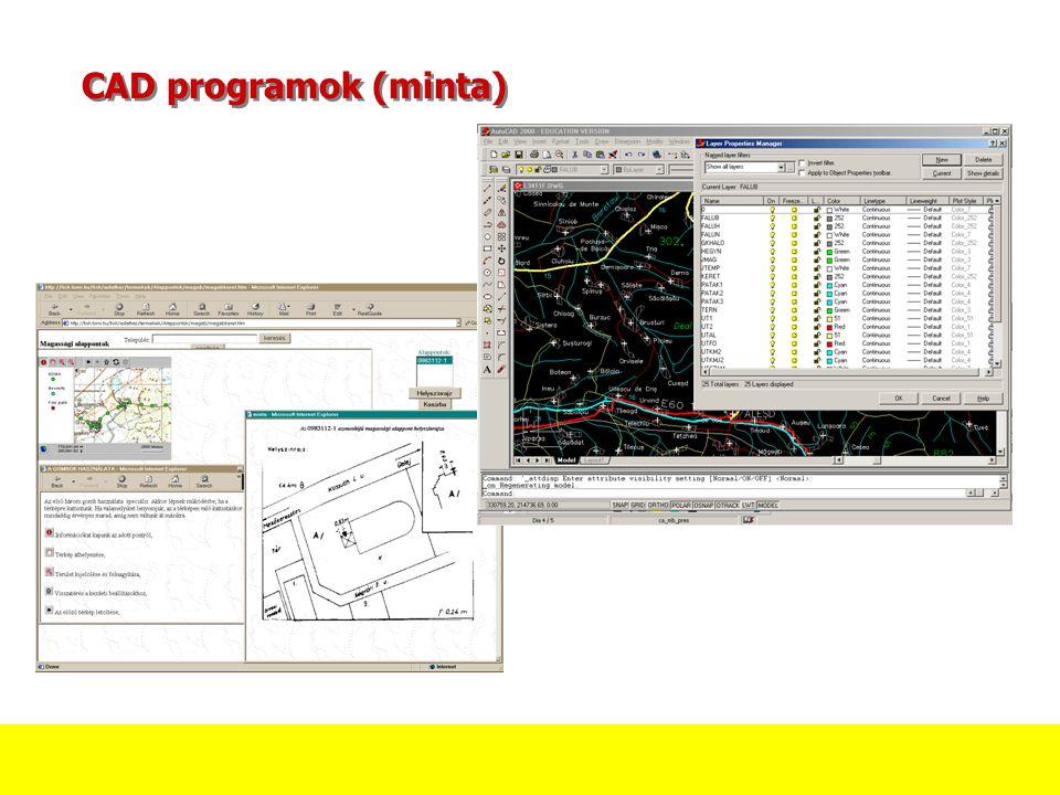 CAD programok (minta)