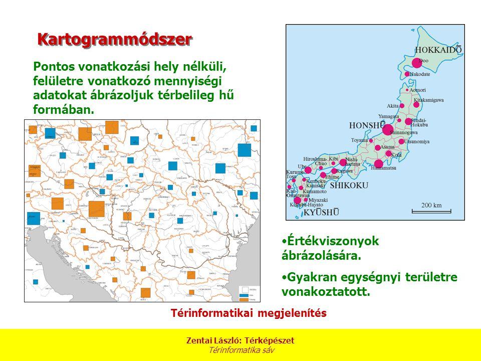 Zentai László: Térképészet Térinformatika sáv Folyamatosan változó földrajzi eloszlású jelenségek szemléltetésére.