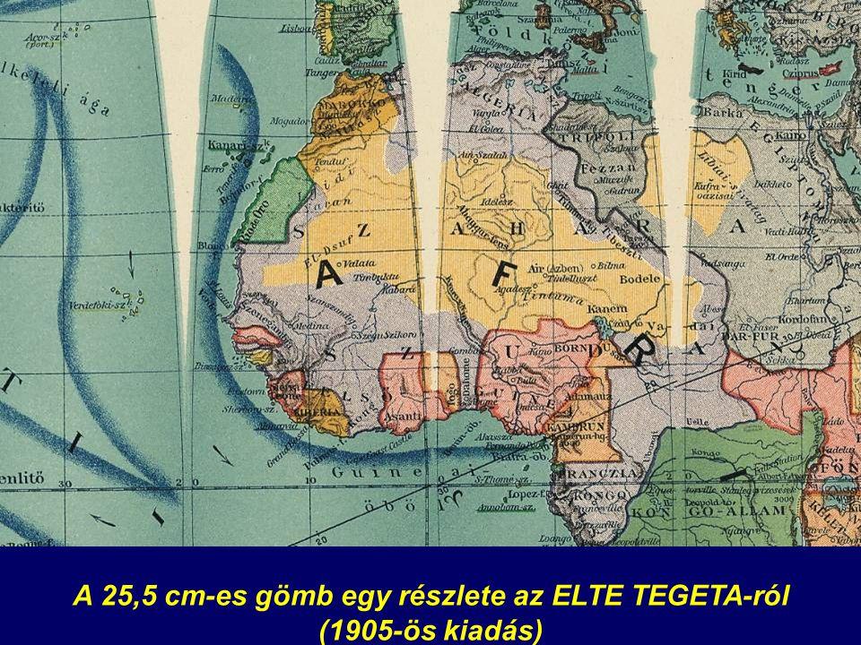 A 25,5 cm-es gömb egy részlete az ELTE TEGETA-ról (1905-ös kiadás)