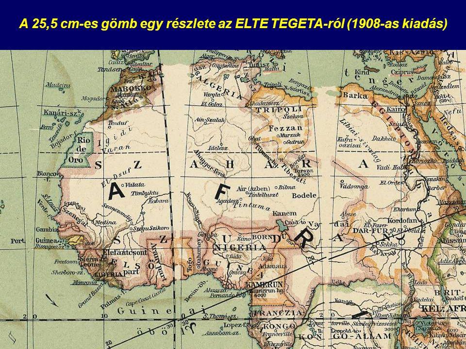 A 25,5 cm-es gömb egy részlete az ELTE TEGETA-ról (1908-as kiadás)