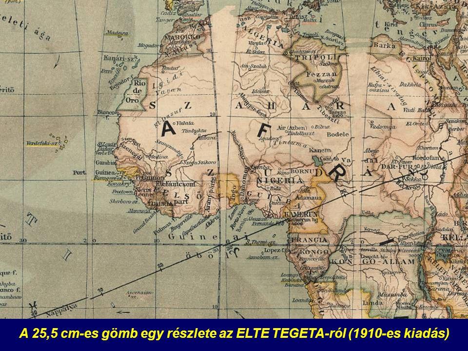 A 25,5 cm-es gömb egy részlete az ELTE TEGETA-ról (1910-es kiadás)