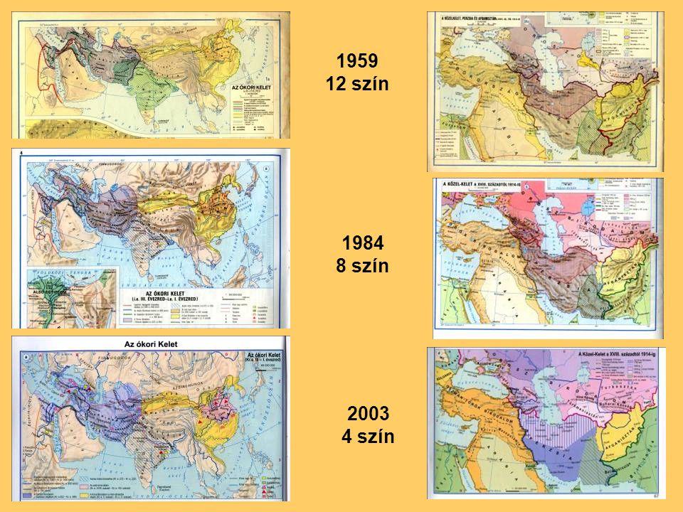 1959 12 szín 1984 8 szín 2003 4 szín