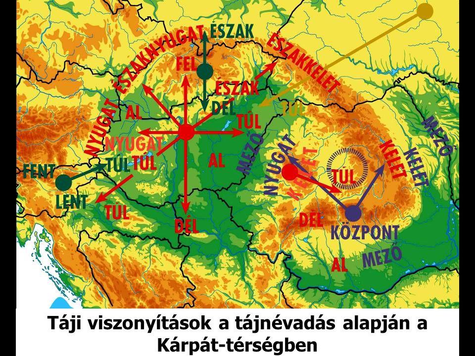 TÁJSZEMLÉLETEKAKÁRPÁT-TÉRSÉGBEN (NÉVADÁSI VISZONYÍTÁS) magyar magyar szlovák szlovák román román ukrán ukrán szlovén szlovén