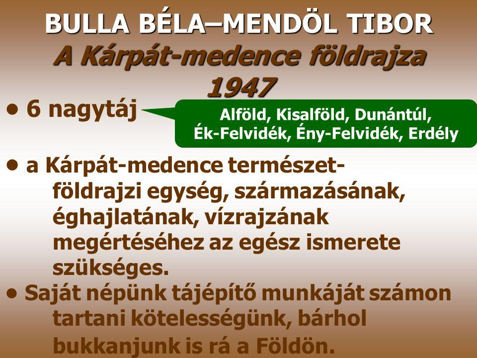 KÁDÁR LÁSZLÓ A magyar nép tájszemlélete és Magyarország tájnevei 1941 Térképmelléklet a magyar néprajzi tájakról, Fő figyelme a nép által felismert és