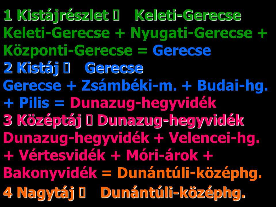 1 Kistájrészlet ő Keleti-Gerecse Keleti-Gerecse + Nyugati-Gerecse + Központi-Gerecse = Gerecse 2 Kistáj őGerecse + Zsámbéki-m.