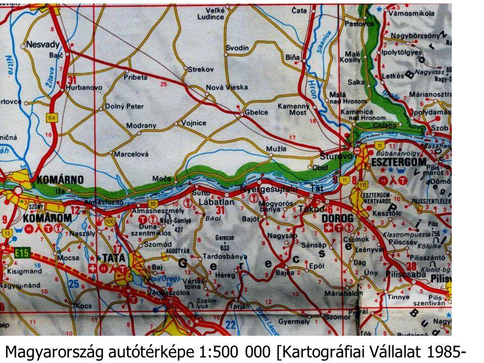 Magyarország autótérképe 1:500 000 [Kartográfiai Vállalat 1985- 86]