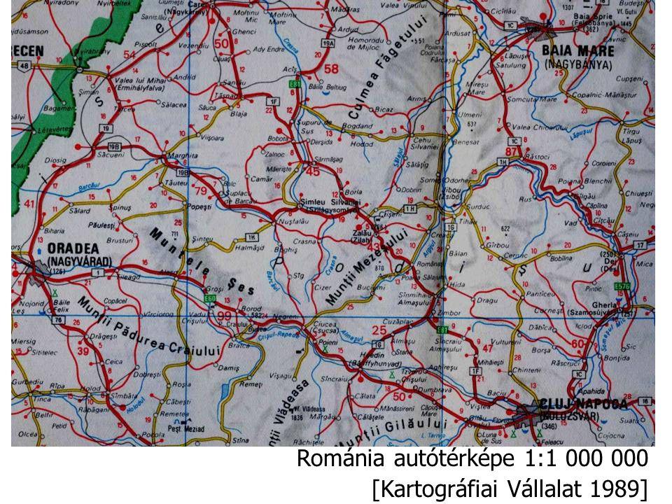 Románia autótérképe 1:1 000 000 [Kartográfiai Vállalat 1989]
