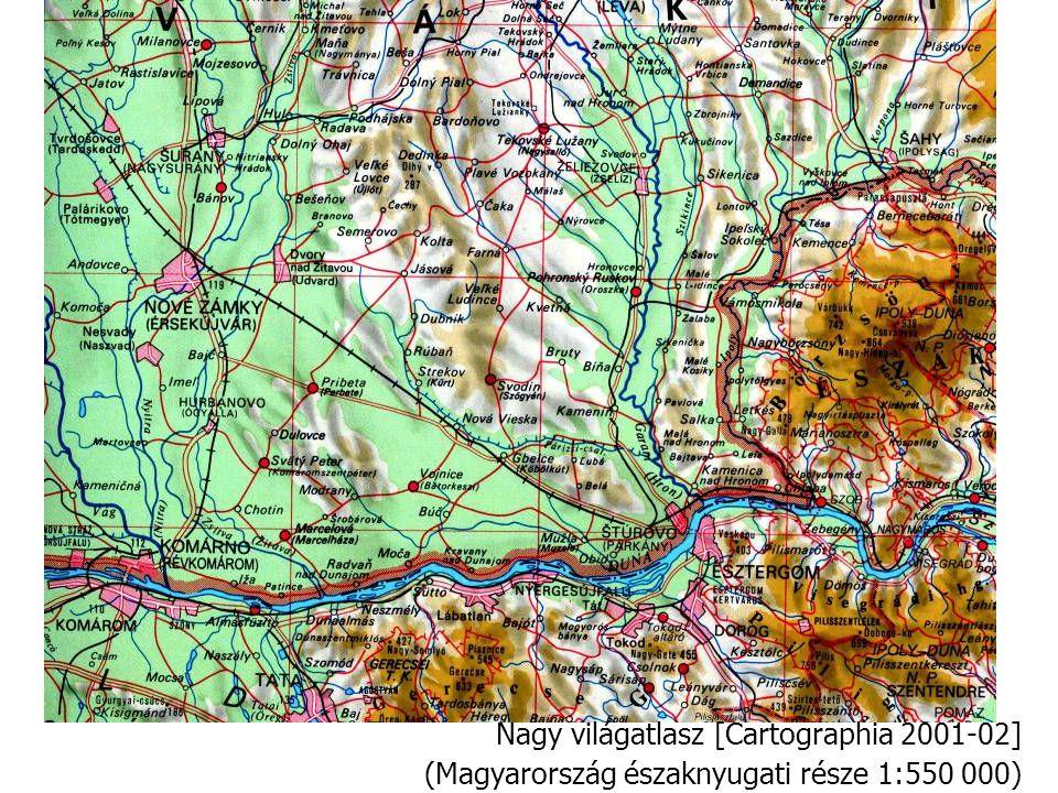 Nagy világatlasz [Cartographia 2001-02] (Magyarország északnyugati része 1:550 000)