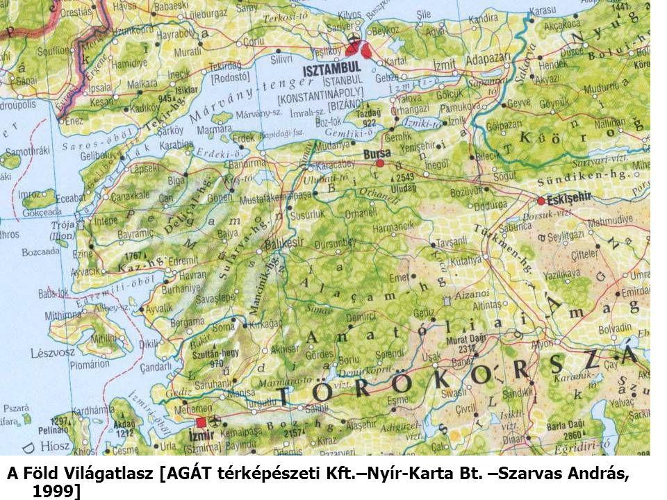 A Föld Világatlasz [AGÁT térképészeti Kft.–Nyír-Karta Bt. –Szarvas András, 1999]
