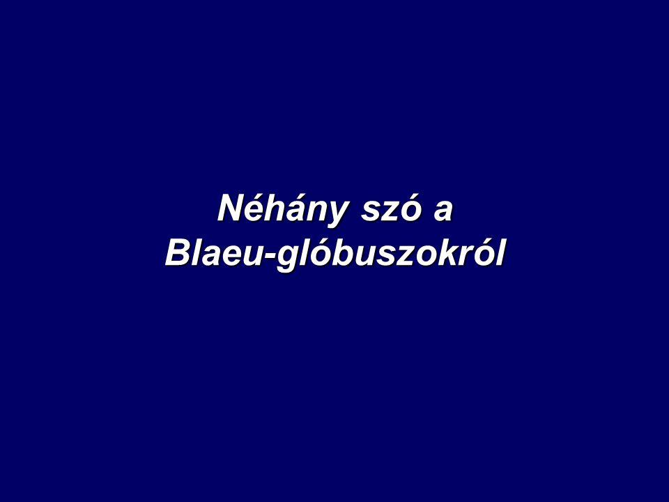 Néhány szó a Blaeu-glóbuszokról