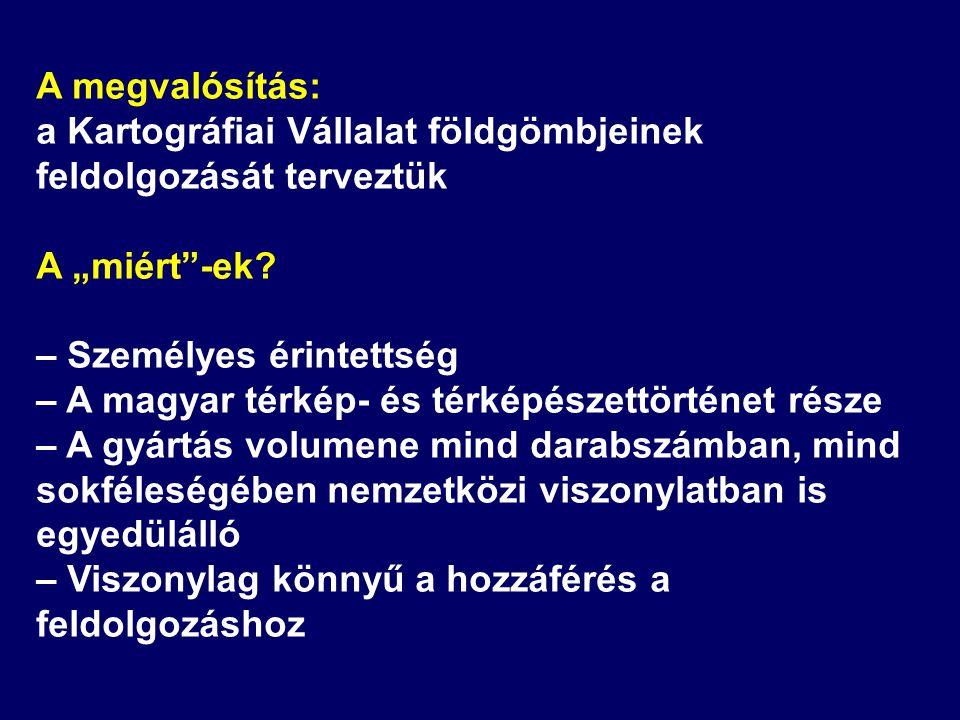 A 25 cm-es politikai glóbusz magyar változata – KV, 1966 Átvilágítós változatban is Jelentős átdolgozás 1982-ben Ezt követően számos idegennyelvű változat: – német, 1984 – angol, 1984 – cseh, 1984 – lengyel, 1987
