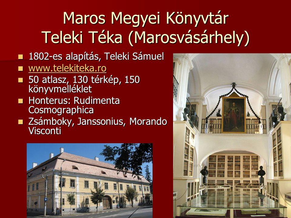 Maros Megyei Könyvtár Teleki Téka (Marosvásárhely) 1802-es alapítás, Teleki Sámuel 1802-es alapítás, Teleki Sámuel www.telekiteka.ro www.telekiteka.ro
