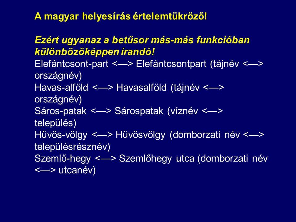 A magyar helyesírás értelemtükröző.