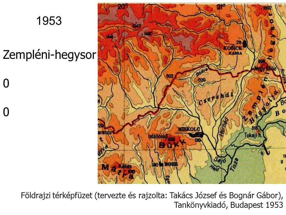 Földrajzi térképfüzet (tervezte és rajzolta: Takács József és Bognár Gábor), Tankönyvkiadó, Budapest 1953 Kisalföld 1953