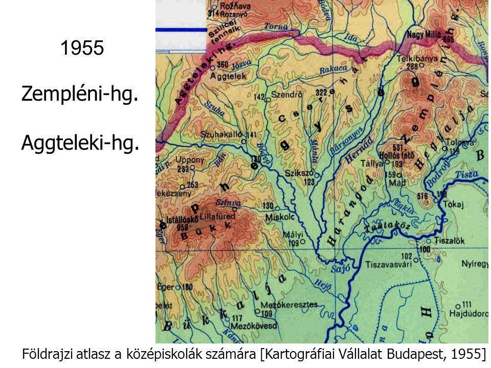 Földrajzi atlasz a középiskolák számára [Kartográfiai Vállalat Budapest, 1955] 1955 Kisalföld