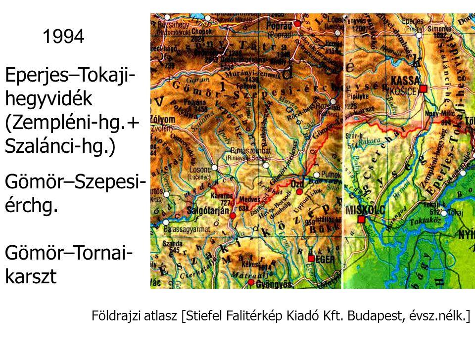 Földrajzi atlasz [Stiefel Falitérkép Kiadó Kft. Budapest, évsz.nélk.] Kisalföld 1994
