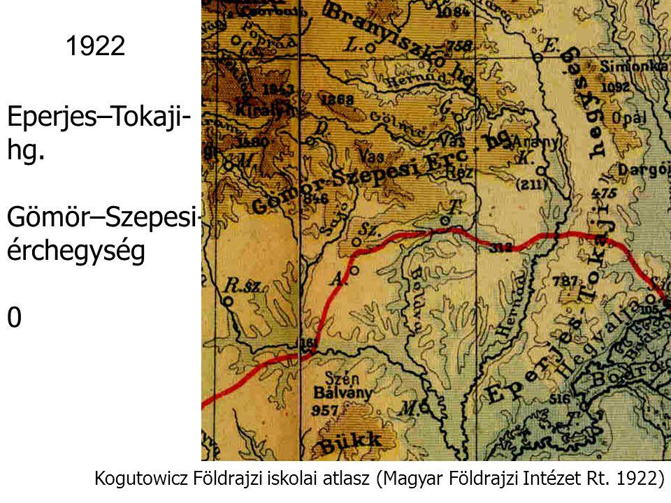 Kogutowicz Földrajzi iskolai atlasz (Magyar Földrajzi Intézet Rt. 1922) 1922 Kisalföld