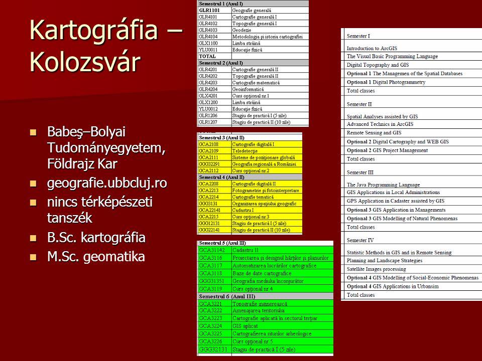 Kartográfia – Kolozsvár Babeş–Bolyai Tudományegyetem, Földrajz Kar Babeş–Bolyai Tudományegyetem, Földrajz Kar geografie.ubbcluj.ro geografie.ubbcluj.r