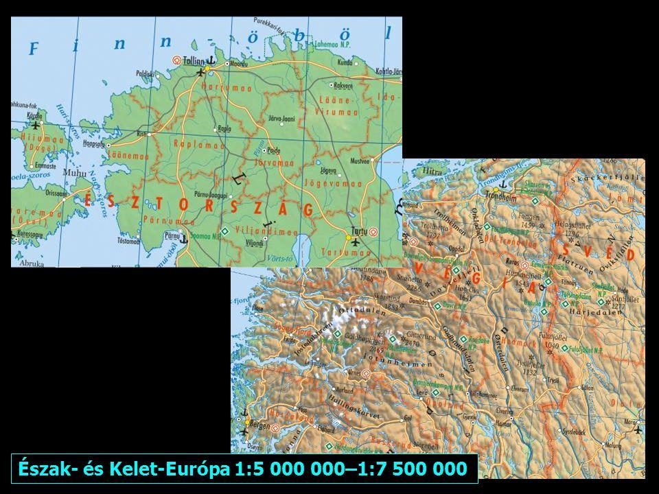Méretarányok: Európán kívül 1:10 000 0000