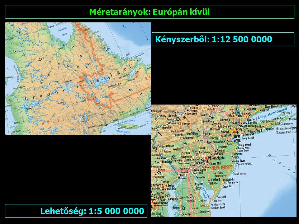 Méretarányok: Kontinensek Európa: 1:15 000 000 Ázsia: 1:35 000 000 Afrika: 1:35 000 000 Észak- és Dél-Amerika: 1:30 000 000 Ausztrália és Óceánia: 1:25 000 000
