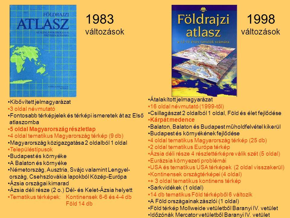 Kibővített jelmagyarázat 3 oldal névmutató Fontosabb térképjelek és térképi ismeretek át az Első atlaszomba 5 oldal Magyarország részletlap 4 oldal te