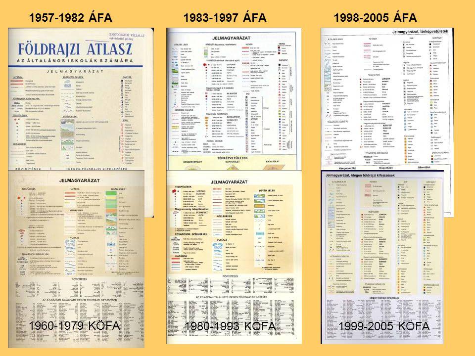 1957-1982 ÁFA1983-1997 ÁFA1998-2005 ÁFA 1960-1979 KÖFA 1980-1993 KÖFA1999-2005 KÖFA