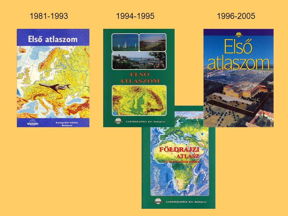 1980 és 1993 között KIKERÜL:Gazdasági Közösségek (Eu.) Nemzeti össztermék (Eu.) Energiafelhasználás (Föld) Ipari fejlettség (Föld) BEKERÜL:Közlekedés (Eu.) Energiaszállítás (Eu.) Csillagászat (1 oldal) 1994 és 1998 között 130 oldal 17 oldal névmutató, (kb.