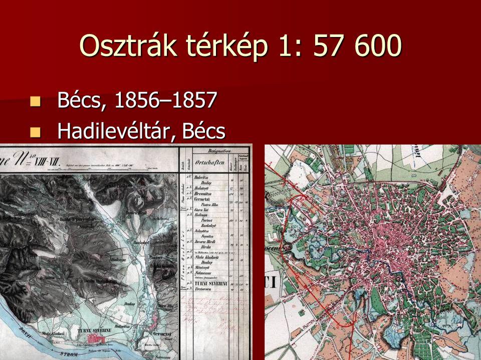 Osztrák térkép 1: 57 600 Bécs, 1856–1857 Bécs, 1856–1857 Hadilevéltár, Bécs Hadilevéltár, Bécs
