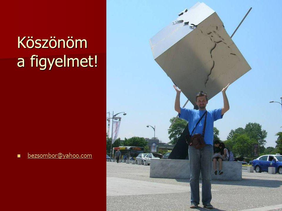 Köszönöm a figyelmet! bezsombor@yahoo.com bezsombor@yahoo.com bezsombor@yahoo.com
